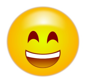 happy emoticon / emoji - free clip art