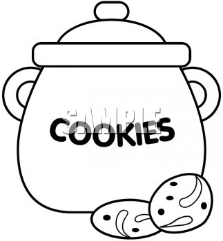 Empty Cookie Jar Clipart. Black And Whit-Empty Cookie Jar Clipart. Black And White Cookie Jar .-15