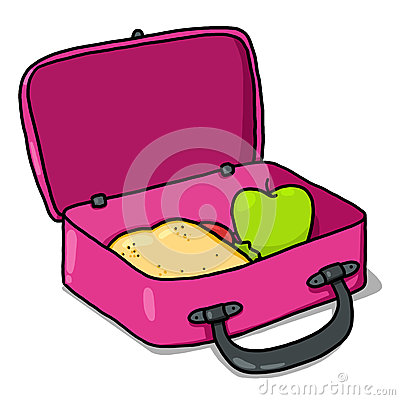 Empty Lunchbox Clipart Kids Lunch Box Illustration