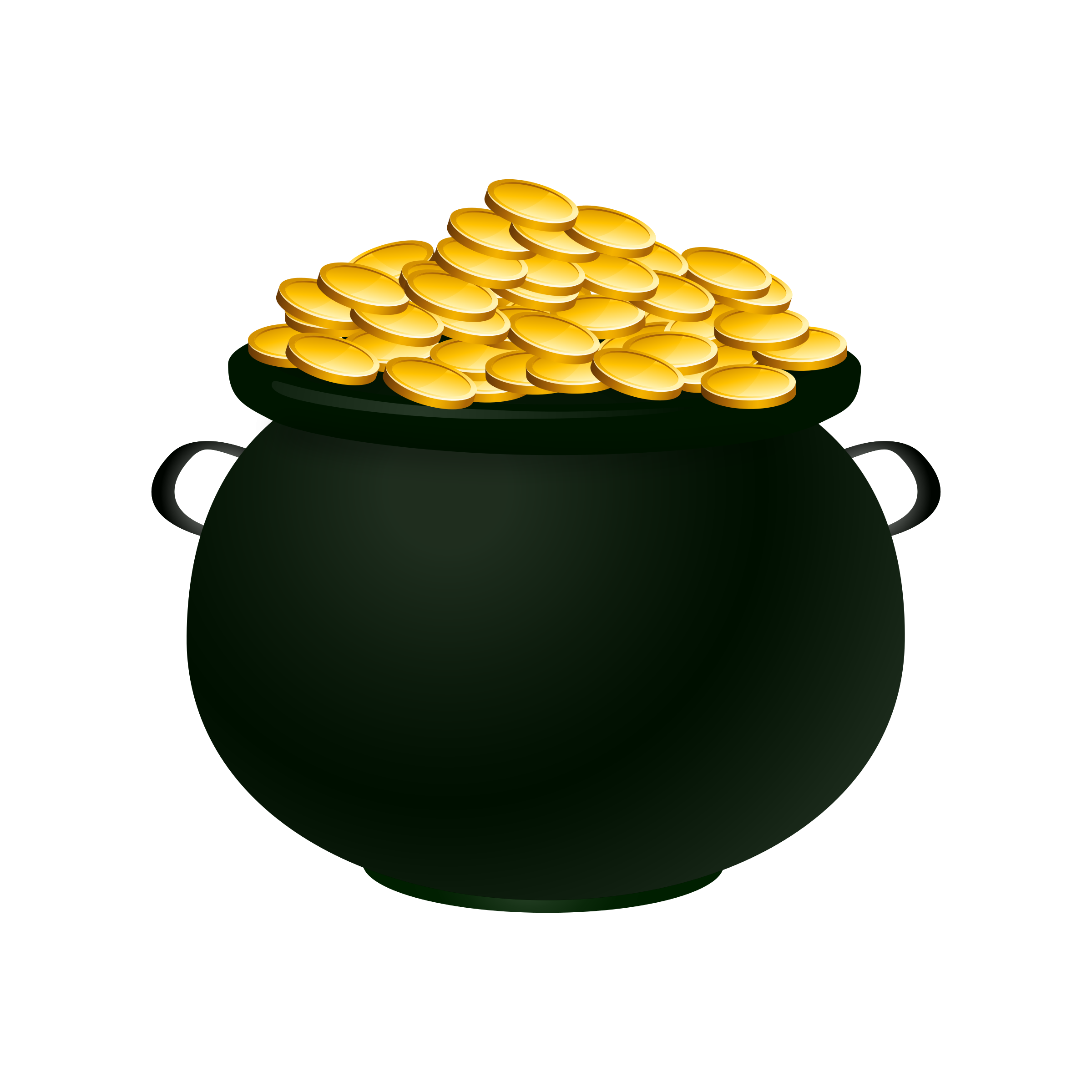 Empty Pot Of Gold Clipart .