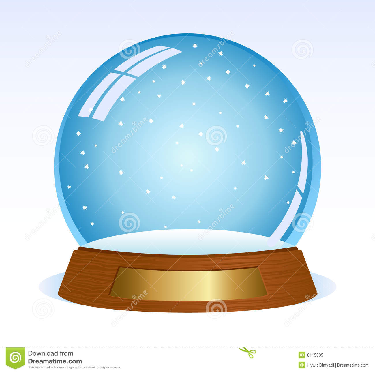 Empty Snowglobe Royalty Free Stock Photo