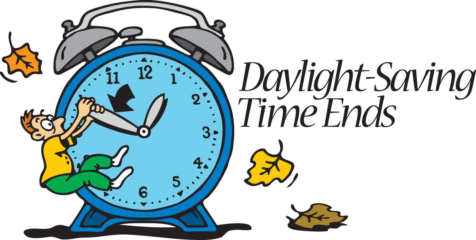 End of daylight savings time clip art
