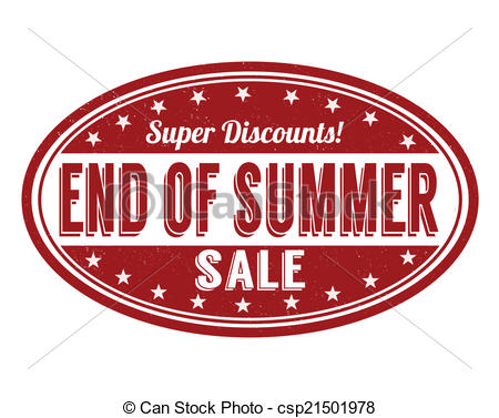 ... End of summer sale stamp - End of summer sale grunge rubber.