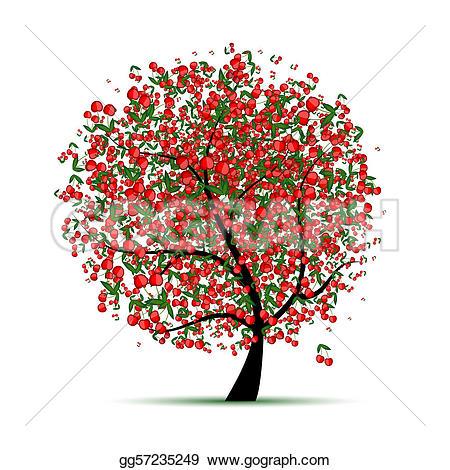 ... Energy Cherry Tree For Your Design-... Energy cherry tree for your design-16