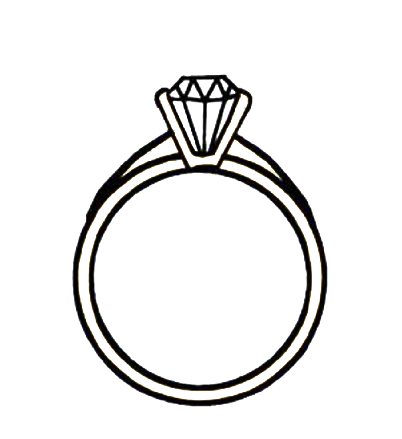 Engagement Ring Clipart Black .