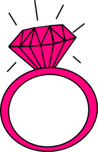 Engagement Ring Clipart Pink .