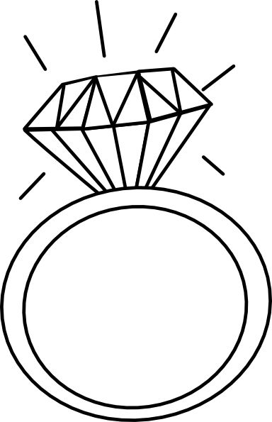 Engagement Ring Outline Clip .