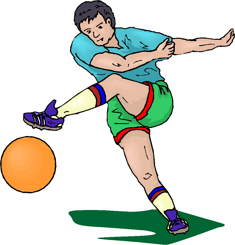 English football clipart 7 . - Football Player Clipart