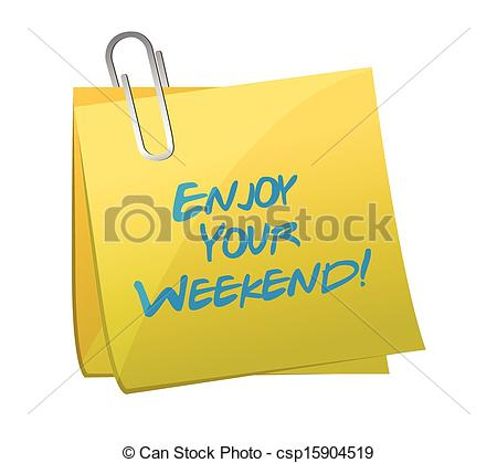... enjoy your weekend post. illustration design over white