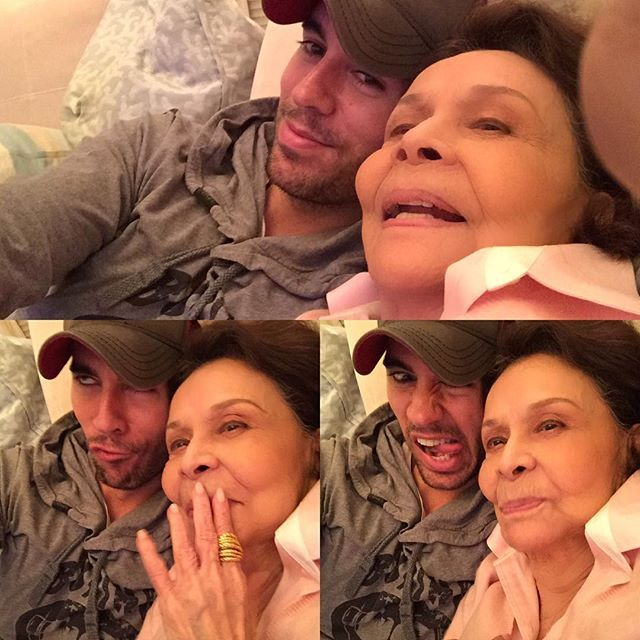 Enrique Iglesias and his grandma being silly!