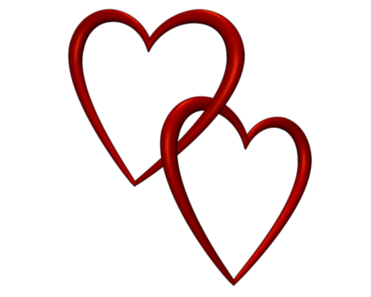 Entangled Red Love Hearts Transparent Background Valentine Clip Art