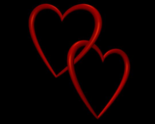 Entangled Red Love Hearts Transparent Ba-Entangled Red Love Hearts Transparent Background Valentine Clip Art-4