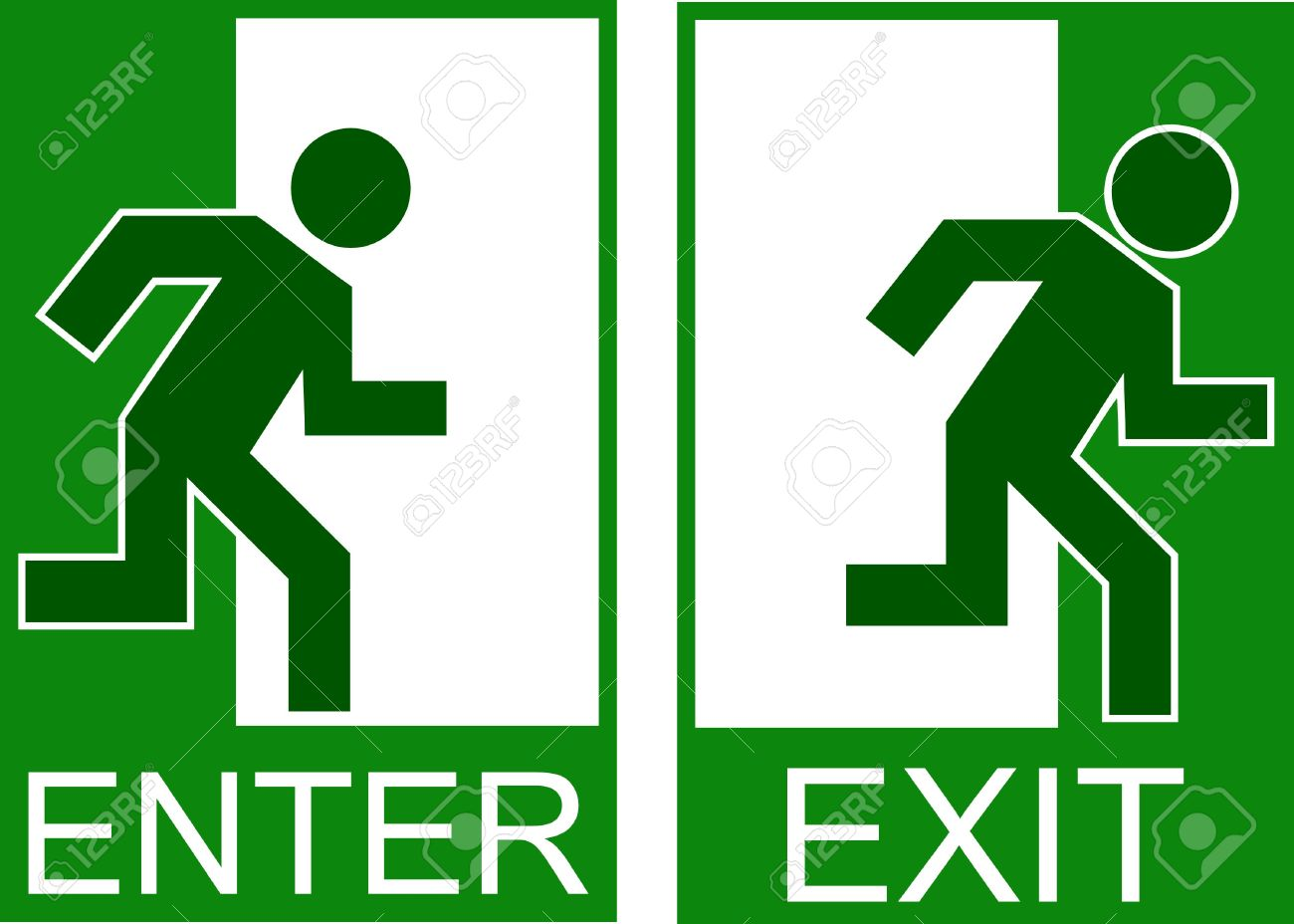 enter exit sign Stock Vector - 3303027
