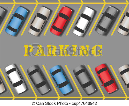 Eps Vector Of Cars Park In Store Parking-Eps Vector Of Cars Park In Store Parking Lot Rows Many Cars Parked-4