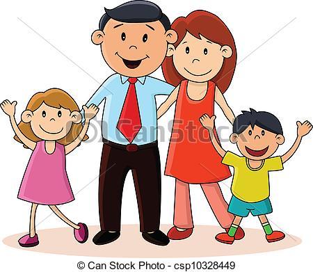 Eps Vector Of Happy Family Vector Illustration Of Happy Family
