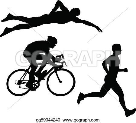 EPS Vector - Triathlon - Vector. Stock C-EPS Vector - Triathlon - vector. Stock Clipart Illustration gg59044240-1