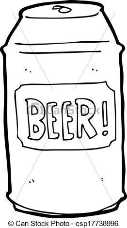 Eps Vectors Of Cartoon Beer Can Csp17738996 Search Clip Art