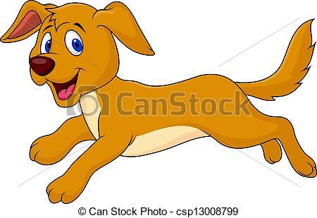 Eps Vectors Of Cute Dog Running Csp13008799 Search Clip Art
