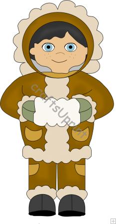 Eskimo Boy Clip Art