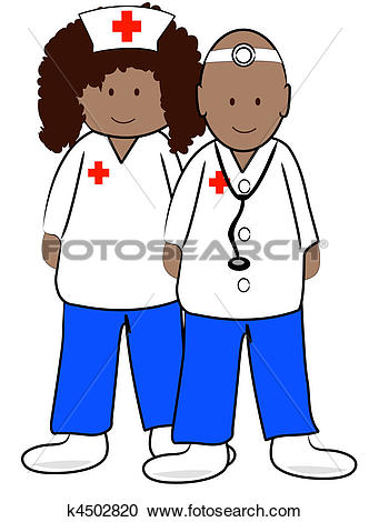 Ethnic Male Doctor And Female Nurse-ethnic male doctor and female nurse-3