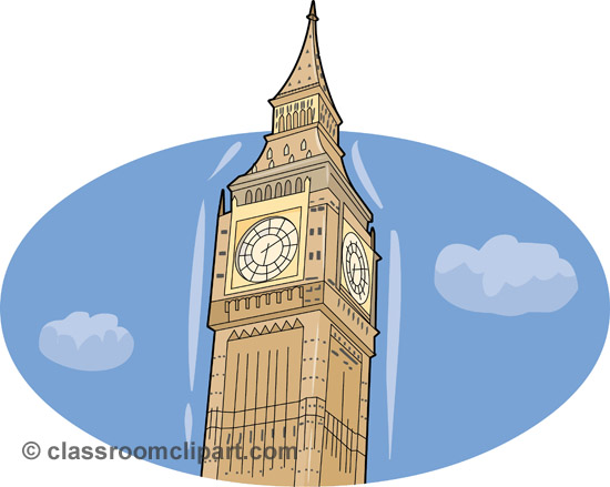 Europe London Big Ben 2 Classroom Clipart