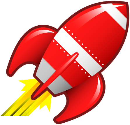 Even A Caveman Can Do It - Rocketship Clipart