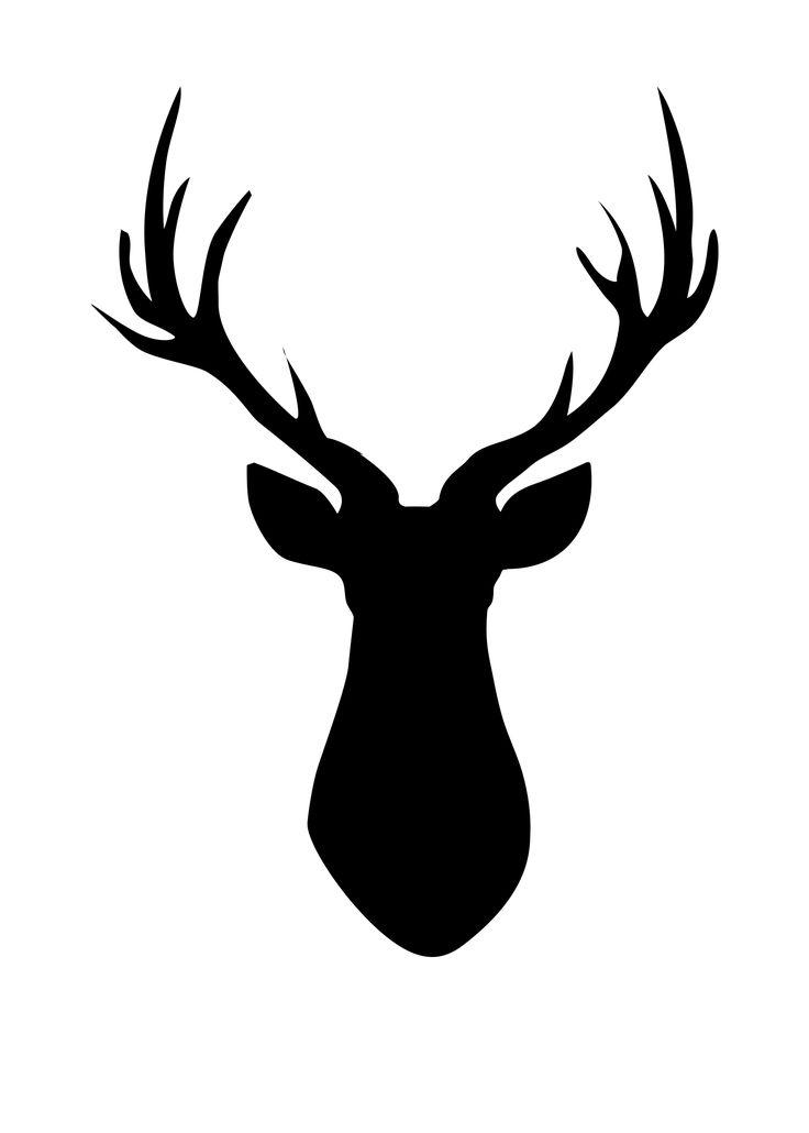 Ever Popular FREE Printable Deer Head Si-Ever popular FREE Printable Deer Head Silhouette madeinaday clipartall.com-9