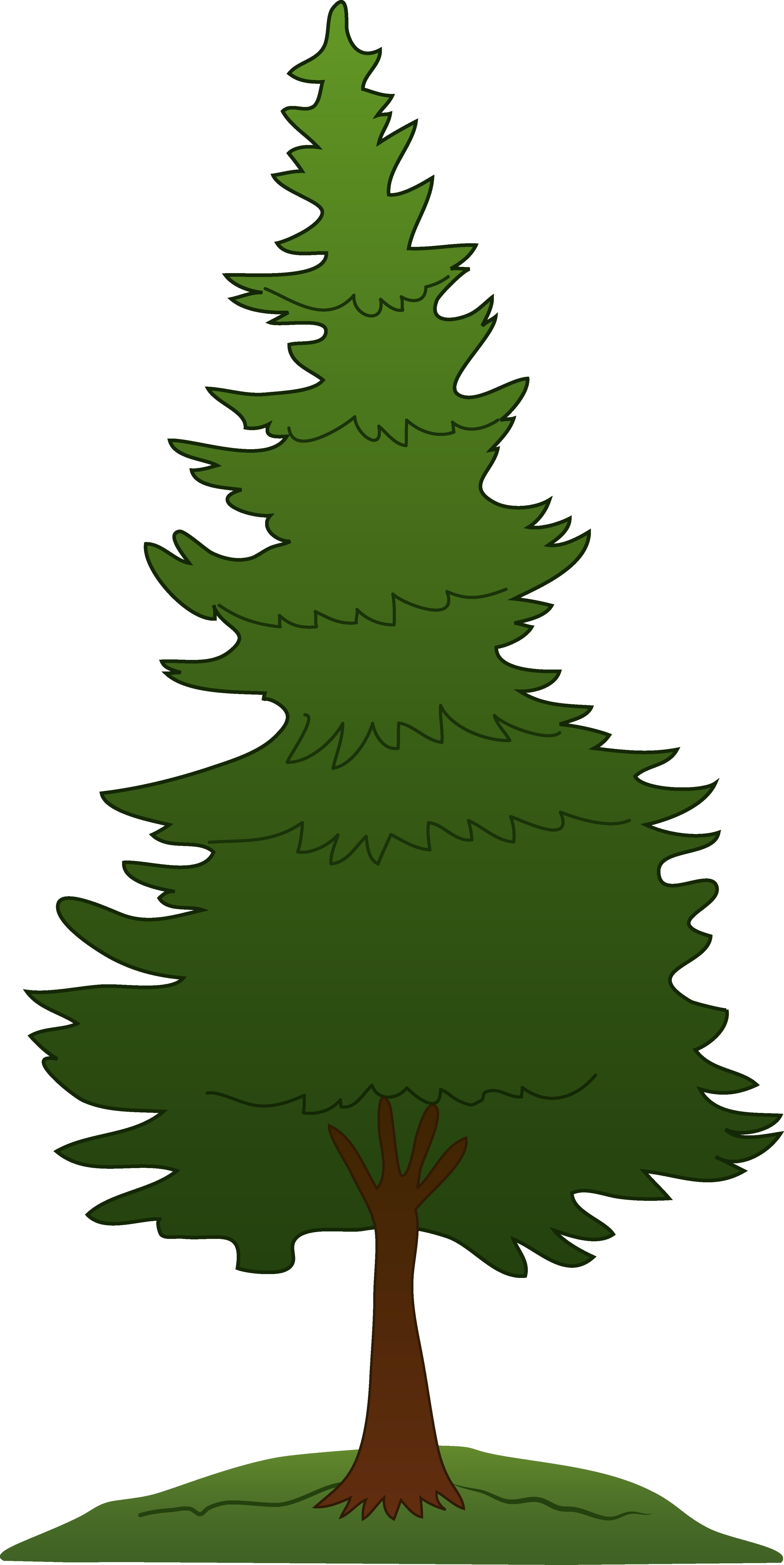 Evergreen Tree Clip Art. Green Pine Tree-Evergreen Tree Clip Art. Green Pine Tree Design - Free .-6
