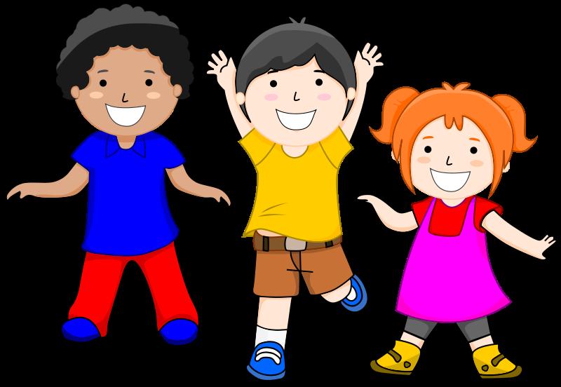 happy children clipart. Adver