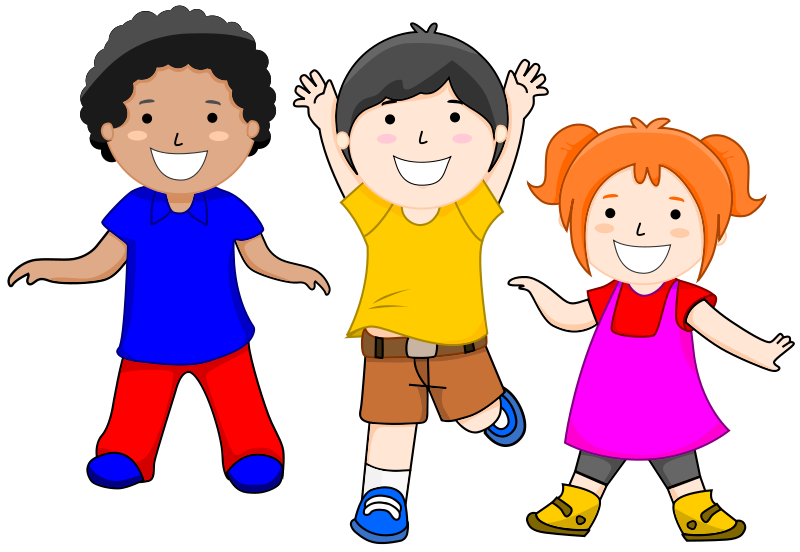 Excited kids clipart free .