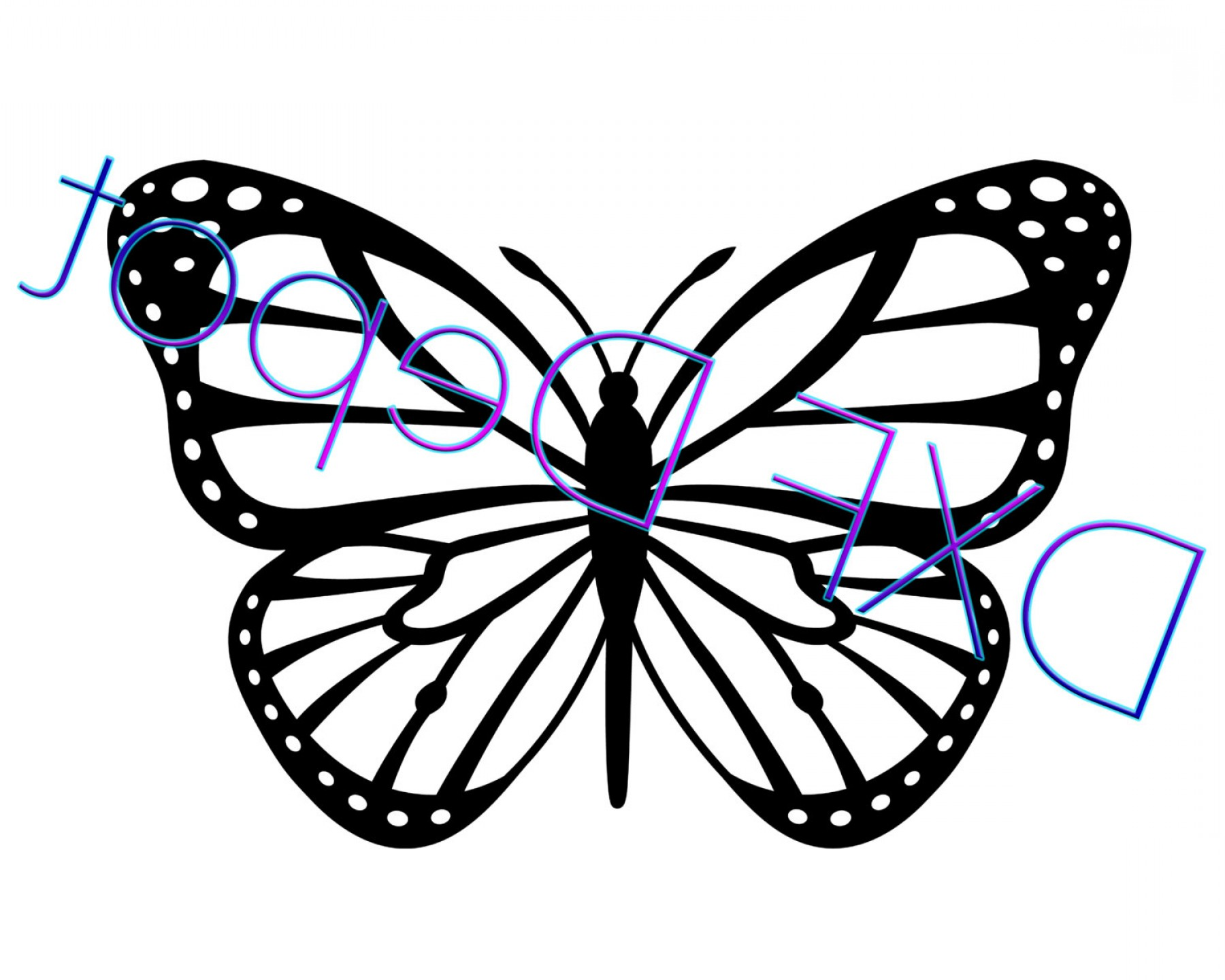 Exclusive Butterfly Dxf Format Cnc Cut File Vector Layout