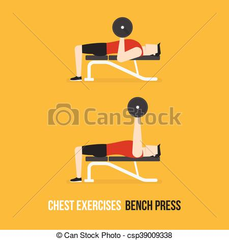 Chest Exercises. Bench Press. - Csp39009-Chest Exercises. Bench Press. - csp39009338-6