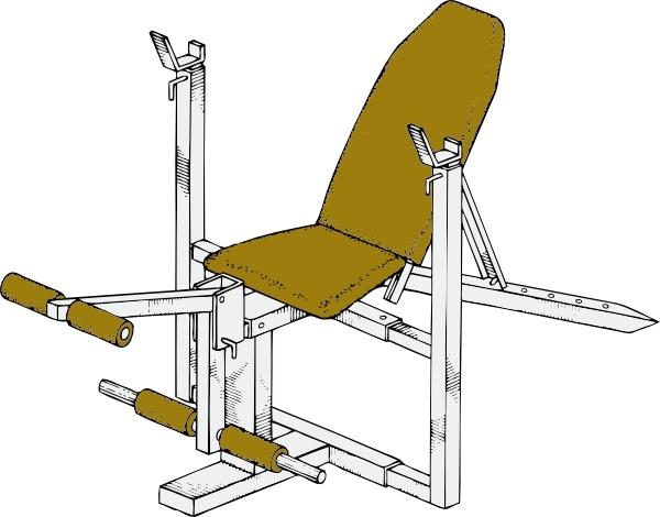 Exercise Bench Clip Art-Exercise Bench clip art-7