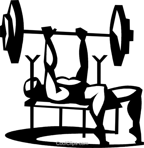 Man Doing The Bench Press Exercise-man doing the bench press exercise-11