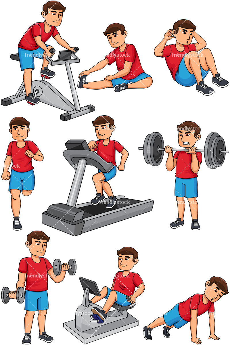 Man Working Out. PNG - JPG And Vector EP-Man working out. PNG - JPG and vector EPS file formats (infinitely scalable)-14