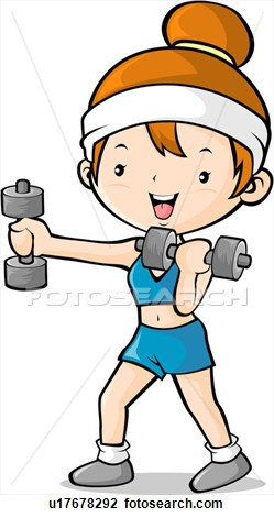 Exercise Hand Weights Clipart #1