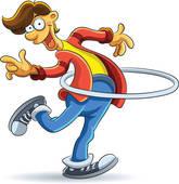 Exercise Kid Girl Fat Hula Hoop; Hola Hoop Man