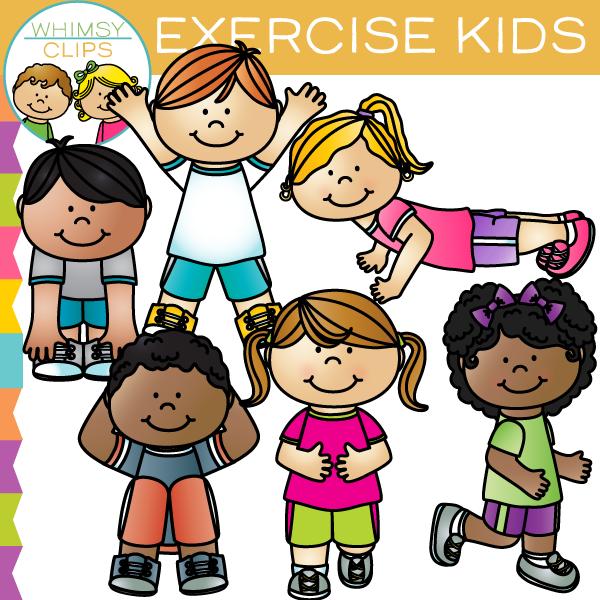 Exercise Kids Clip Art-Exercise Kids Clip Art-3