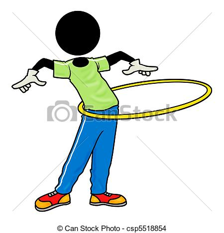 ... Exercise With Hula Hoop - Silhouette-... exercise with hula hoop - Silhouette-man healthcare icon ...-3