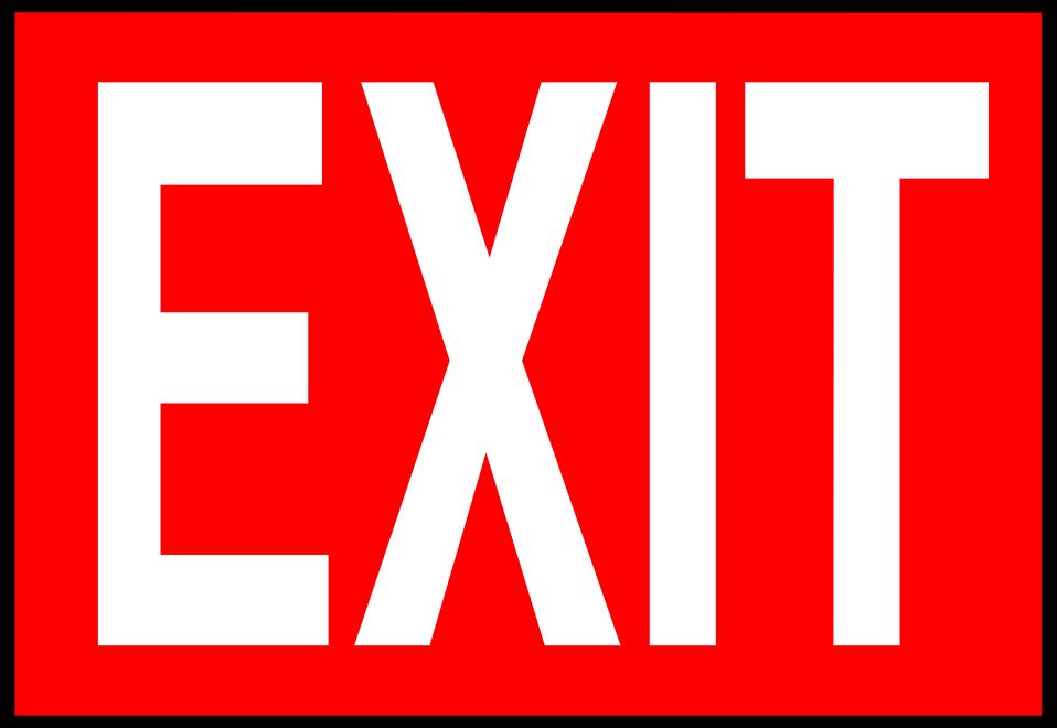 Exit Clipart-Clipartlook.com-958