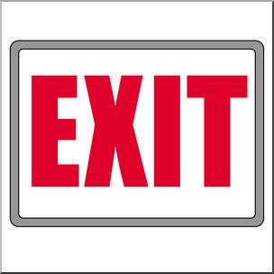 Clip Art: Signs: Exit Color I abcteach clipartlook.com - preview 1