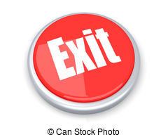 . ClipartLook.com Exit Button - A exit button. 3D rendered illustration.