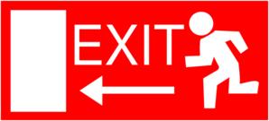 Exit Left 123 Clip Art
