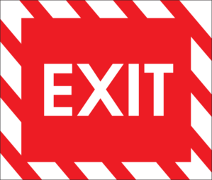Exit Sign Clip Art At Clker Com Vector C-Exit Sign Clip Art At Clker Com Vector Clip Art Online Royalty Free-3