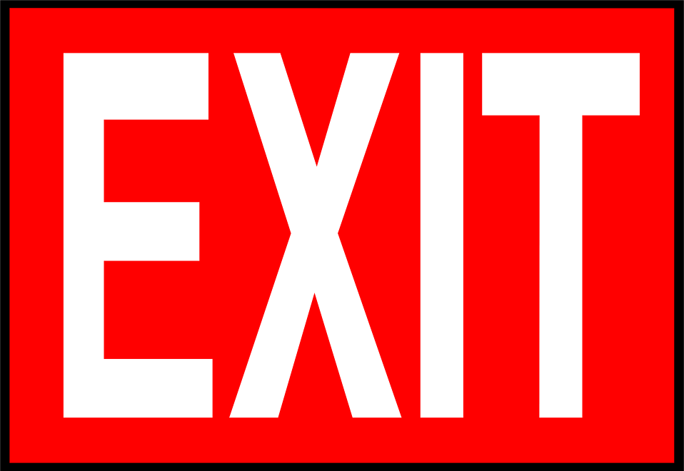 Exit Sign Clip Art-Exit Sign Clip Art-4
