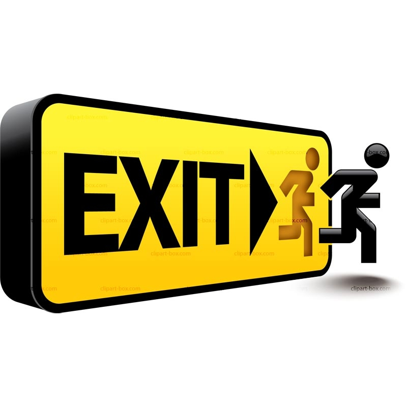 Exit Sign Clip Art Exit Sign .-Exit Sign Clip Art Exit Sign .-6