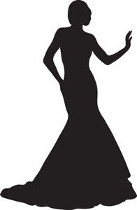 Exotic Woman Clipart Image: Woman Silhouette