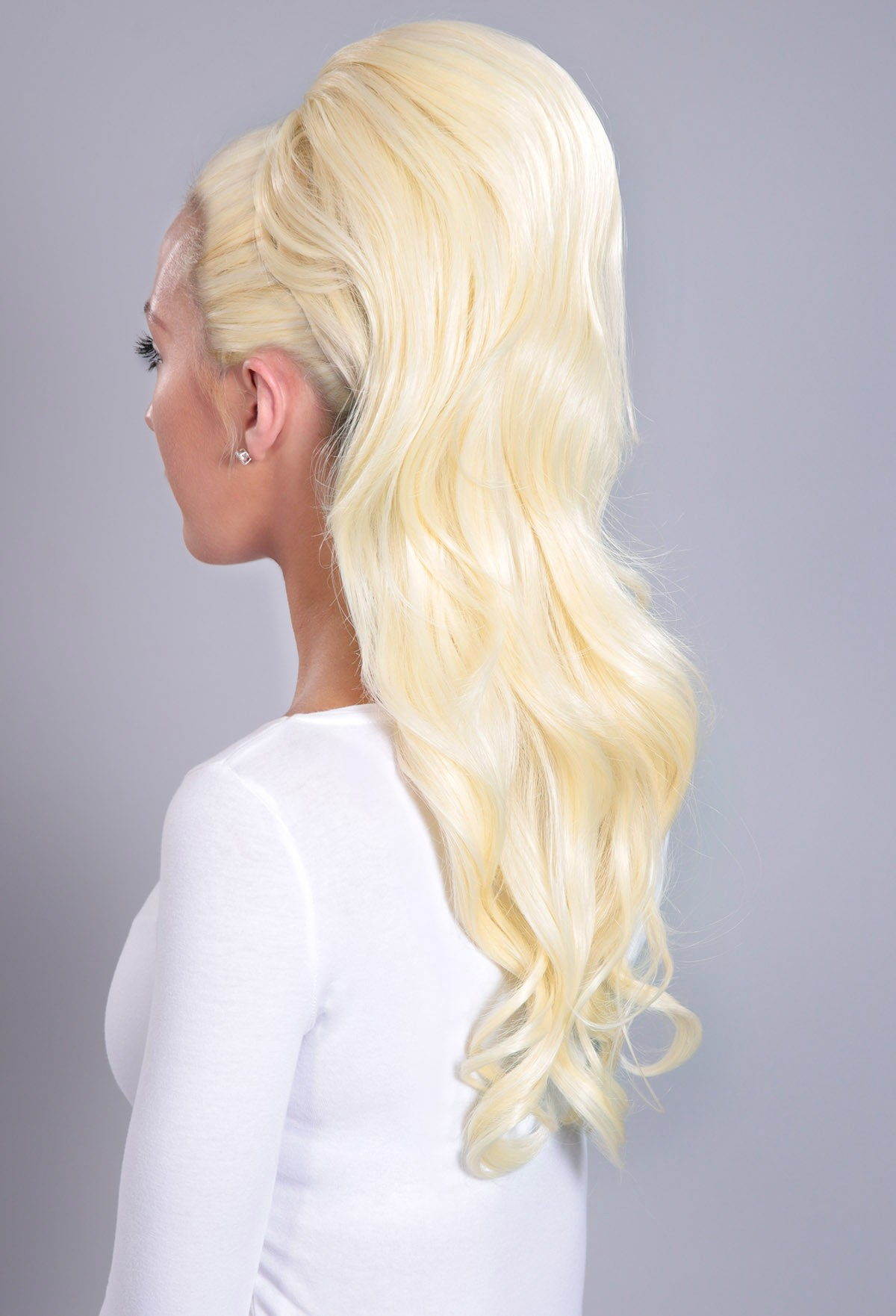 Extreme Volume Pure Blonde #613 Curly Cl-Extreme Volume Pure Blonde #613 Curly Clip In Ponytail-3