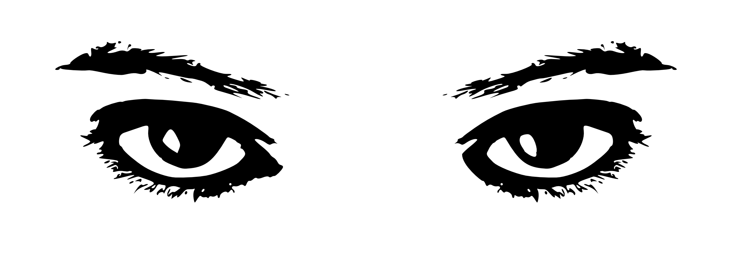simple eye clipart black and