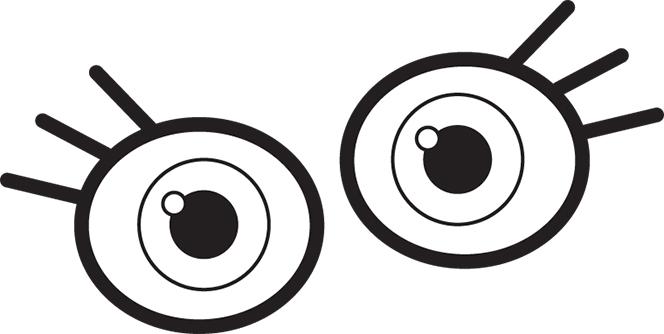 Eye Line Art - Googly Eyes Clip Art